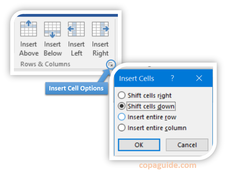 Insert Row/Column in Table MS-Word Hindi Notes