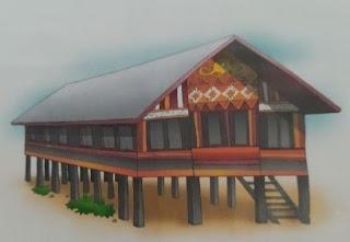 lukisan rumah adat aceh