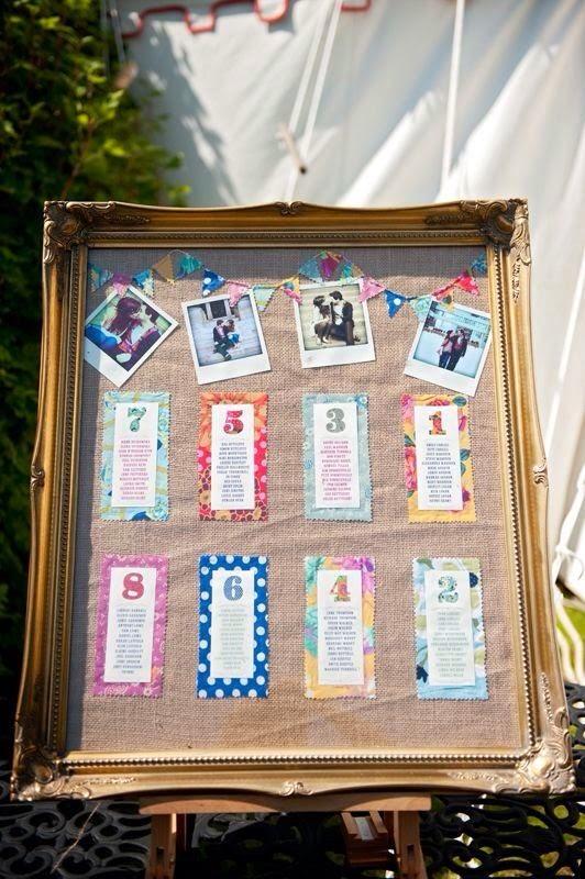 Asignar los asientos en una boda_fotos y colores