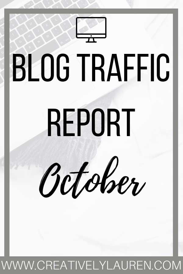 "Are you ready? It's time to go over October's traffic report! Every month I go over the statistics of my blog, Twitter, Pinterest. I do this to show other bloggers that it is okay if you have ""small numbers""."