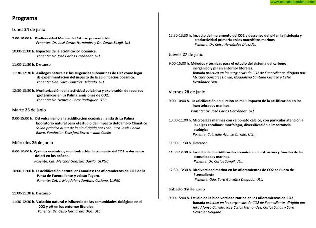 Curso de Extensión Universitaria de la ULL sobre Cambio Climático en el Medio Marino
