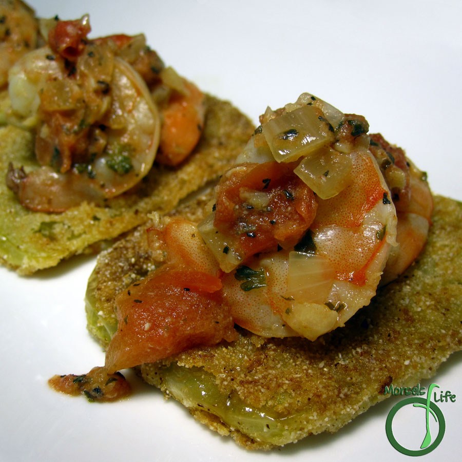 Morsels of Life - Shrimp with Creamy Tomato Basil Sauce - A creamy basil stew with shrimp, parsley, basil, and a bit of Cajun spice. Perfect with some Fried Green Tomatoes.