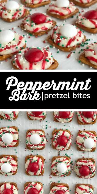 Easy Recipe, #Peppermint Bark Pretzel Bites #easyrecipe #dessert