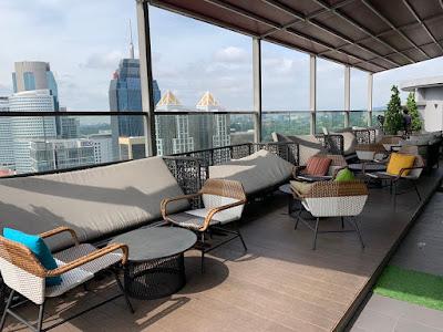 Rooftop lounge, Hilton Garden Inn KL South on 25th floor