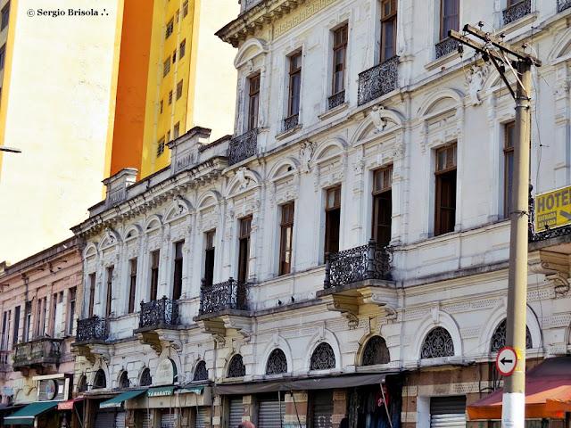Vista da fachada do antigo Hotel Queluz - Luz - São Paulo