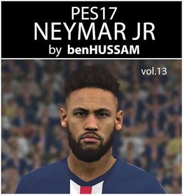 PES 2017 Neymar Jr. Face by benHUSSAM Facemaker