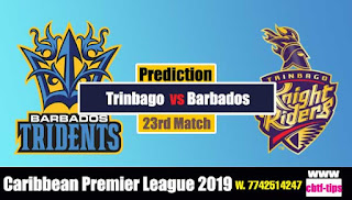 Who will win Today CPL T20 2019 23rd Match Barbados vs Trinbago
