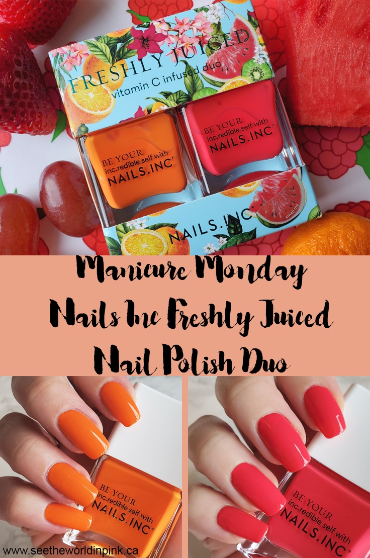 Manicure Monday - Nails Inc. Freshly Juiced Nail Polish Duo