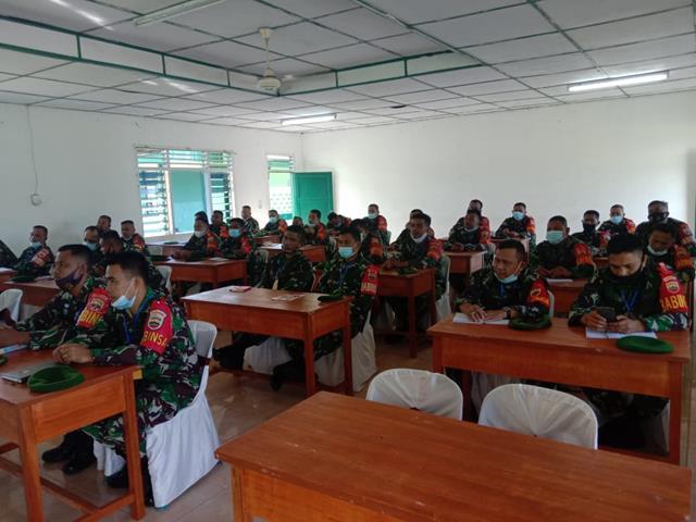 Dalam Rangka Pendaya Gunaan Koramil Model, Personel Jajaran Kodim 0207/Simalungun Turut Laksanakan Kegiatannya