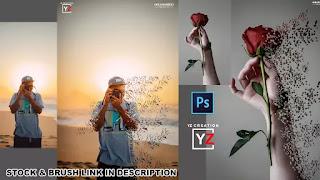 photoshop tutorials dispersion effect easy tutorial   photoshop cc   Yzcreation