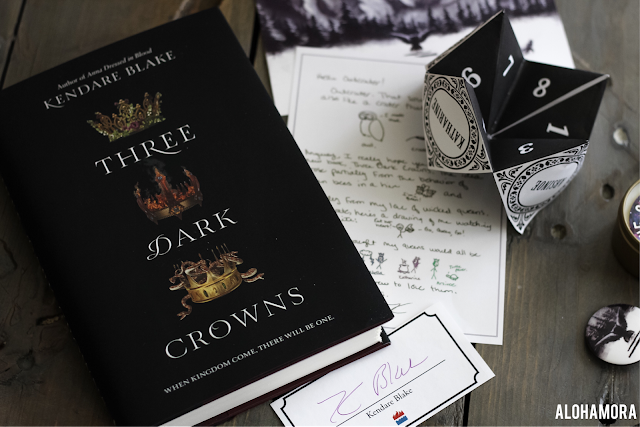 Three Dark Crowns by Kendare Blake is the first in a new fantasy action thrillers with a strong female lead character.  If you liked Red Queen or Throne of Glass then you should give this fun story a read.  4 out of 5 Stars in my book review of this Young Adult/YA/Teen read that adults can enjoy as well.  Content included as well as spoiler free zone in review. Alohamora Open a Book http://alohamoraopenabook.blogspot.com/