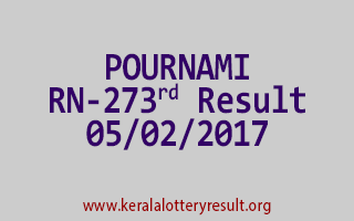 POURNAMI RN 273 Lottery Results 05-02-2017