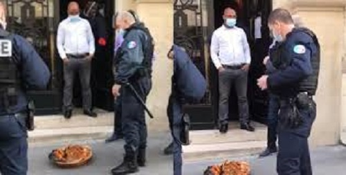 "Confusion as ""sacrifice"" is placed in front of the Nigerian embassy in France (video)"