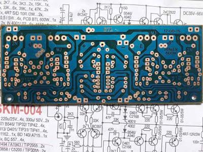 PCB layout DEsign 600W Power Amplifier Circuit