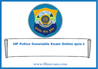 HP Police Constable Exam Online quiz-1