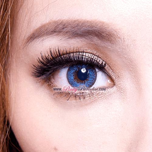 Mi Dali Extra Blue Toric Circle Lenses Close-up