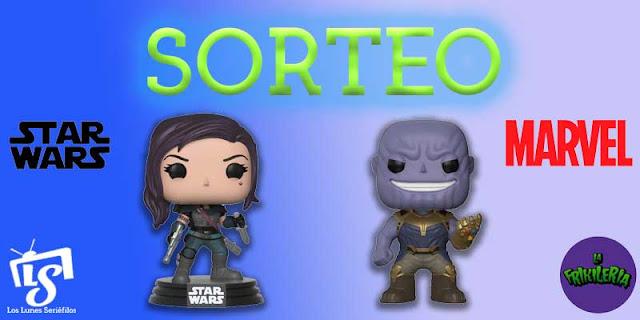 Sorteo Funko Pop Cara Dune ('The Mandalorian') y otro de Thanos ('Marvel')