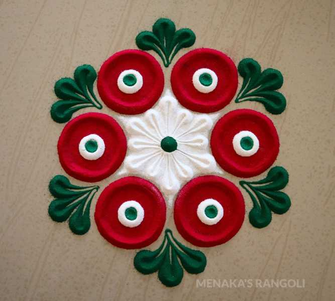beautiful flower rangoli design
