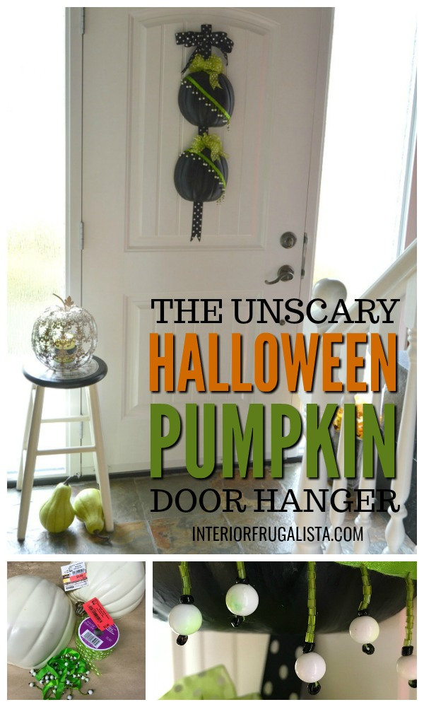 The Unscary Halloween Pumpkin Door Hanger