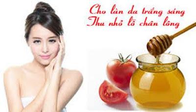 Cà chua mật ong dưỡng da trắng hồng