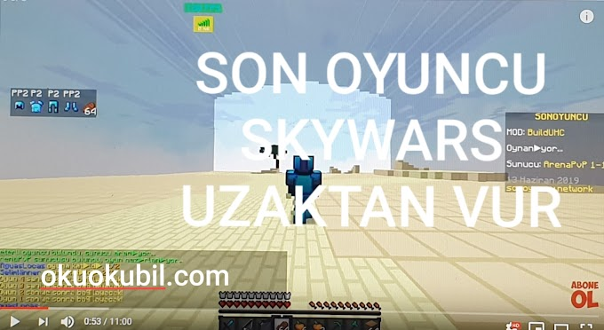 Minecraft SonOyuncu,Skywars Reach,Sekmeme Uzaktan Vurma Hilesi İndir Haziran  2019