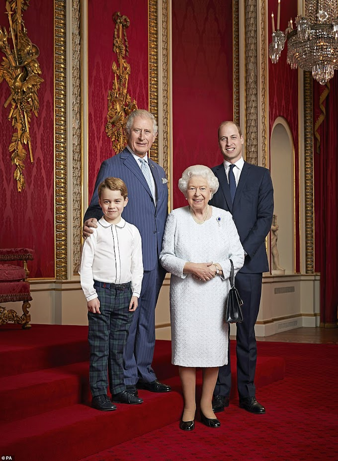 Portrait of Queen and three heirs marks the start of a new decade