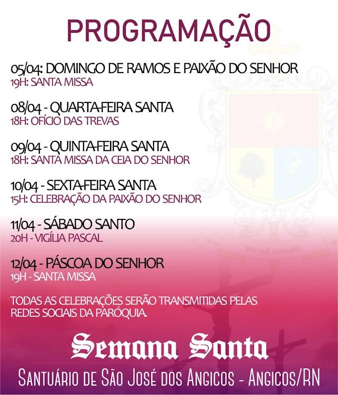 Paróquia Santuário de São José dos Angicos divulga programação da Semana Santa