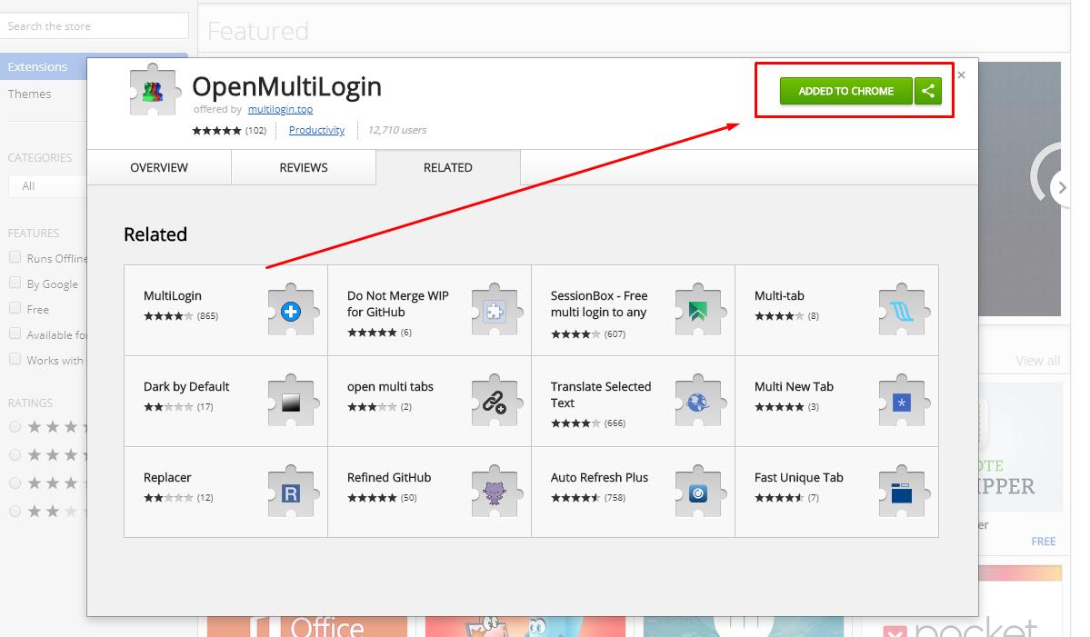 Openmultilogin Chrome Extension