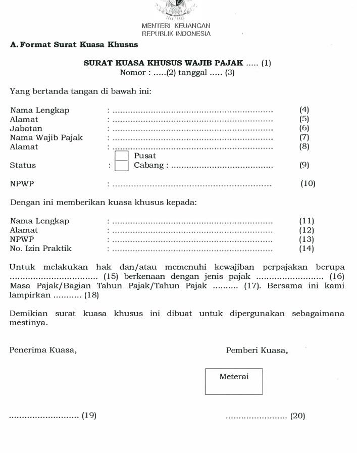 Contoh Surat Kuasa Wakil Jpj - Contoh O