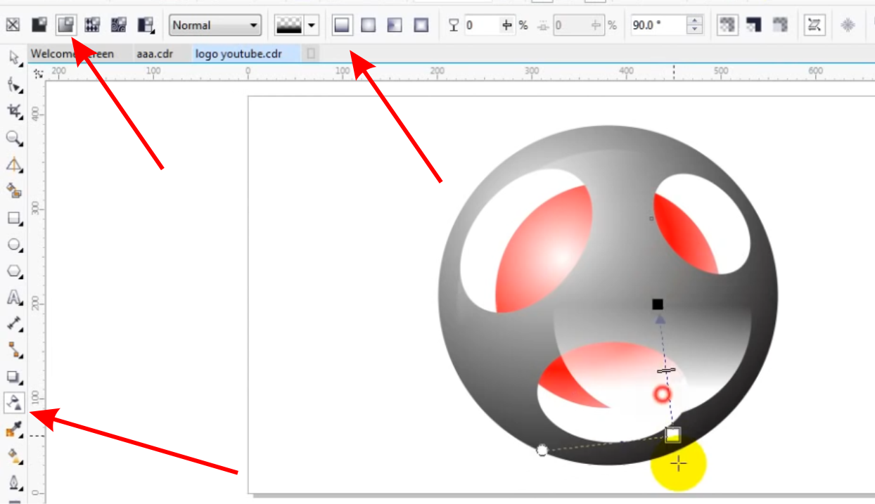 how to create a logo in coreldraw x3