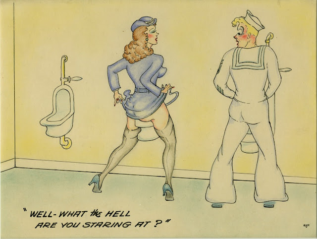 """Well—what the hell are you staring at?,"" by EMK (circa 1941-45)"