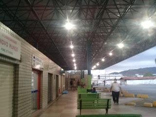 Terminal Rodoviário Municipal de Guarabira PB, recebe nova iluminação garantindo mais segurança aos usuários, comemora o diretor Eduardo
