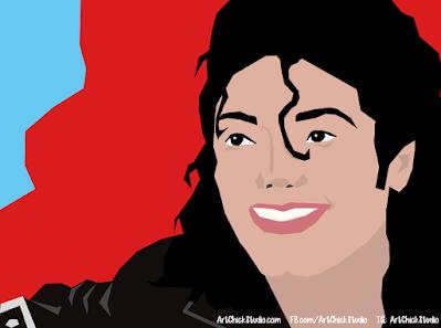 Michael Jackson Vector Drawing