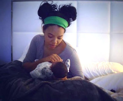 Image result for Angela Simmons gives birth to baby boy, shares adorable first photo