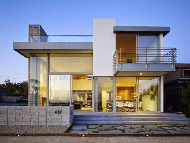 Model Rumah Minimalis Eropa Mewah Megah Desain Gambar
