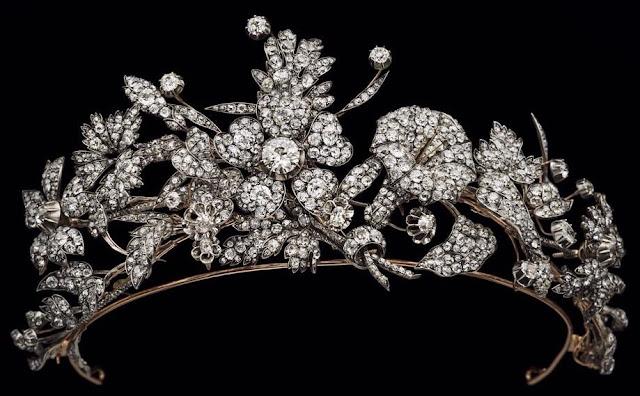 diamond floral tiara italy duchess genoa savoy princess elisabeth musy