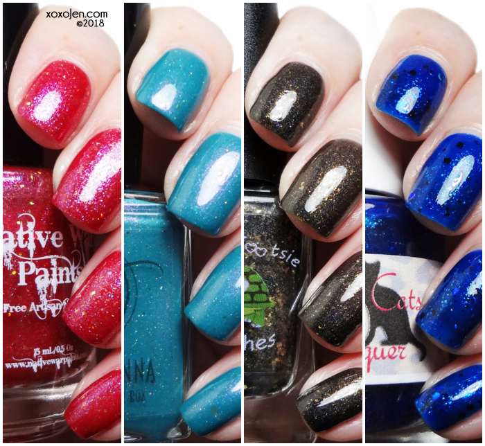 xoxoJen's swatch collage of Shimmer Me Box: DaVinci (August)