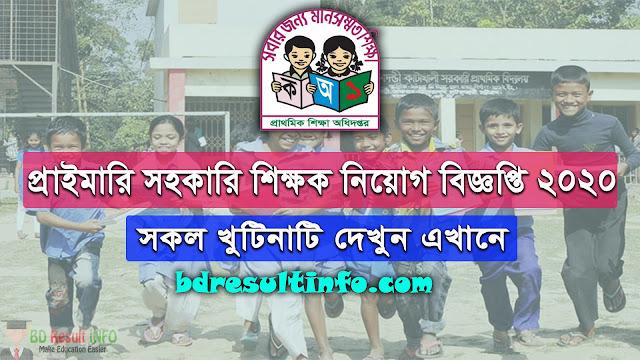 Govt Primary School Job Circular 2020 [PDF] Download And Apply Mathod