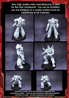 Examples of the resin quality of Bot War models