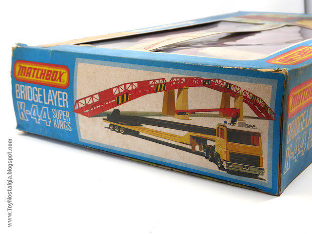 MATCHBOX - Super Kings - Construction Bridge Layer  K-44 Caja solapa lateral - Made in England - 1981 (Lesney England)