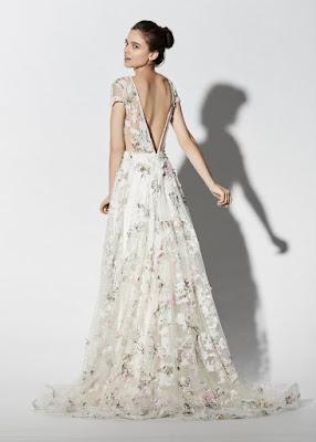 robe de mariee fleurie