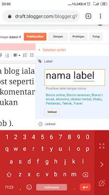 Cara membuat label blog