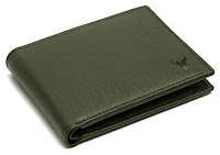 green leather wallet for men