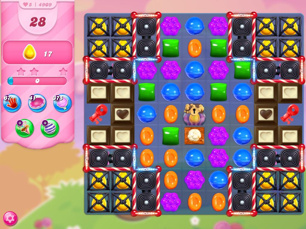 Candy Crush Saga level 4909