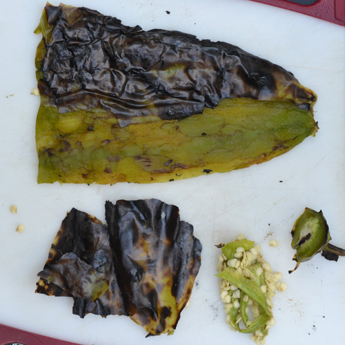 How to fire roast, char, and peel Hatch green chiles