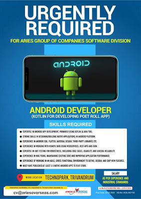 Android developer vacancy