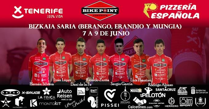 Dos citas por etapas y una clásica en El Escorial para el equipo Tenerife Bike Point Pizzería Española