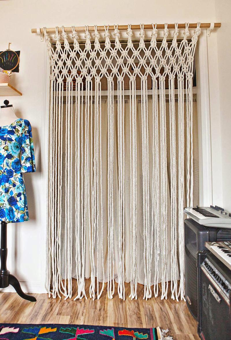 home garden diy faire soi m me un rideau en macram. Black Bedroom Furniture Sets. Home Design Ideas