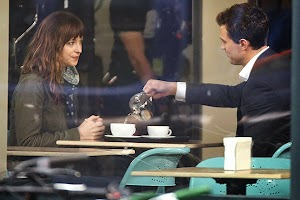 film: 50 shades of gray first Hot shots