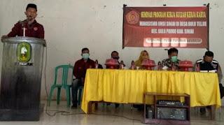 Mahasiwa UMSI K3 di Desa Bulu Tellue  Paparkan Proker,Kades Minta Mahasiswa Harus Berinovasi
